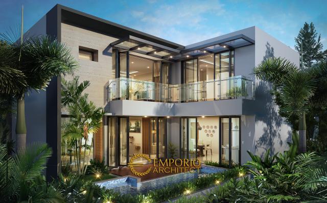 Desain Rumah Modern 2 Lantai Bapak Agung Budi di  Jakarta