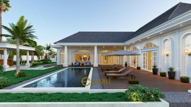 Desain Tampak Belakang Rumah Classic 1 Lantai Bapak Agus di Bangka
