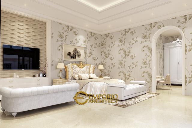 Desain Kamar Tidur Rumah Classic 1 Lantai Bapak Agus di Bangka