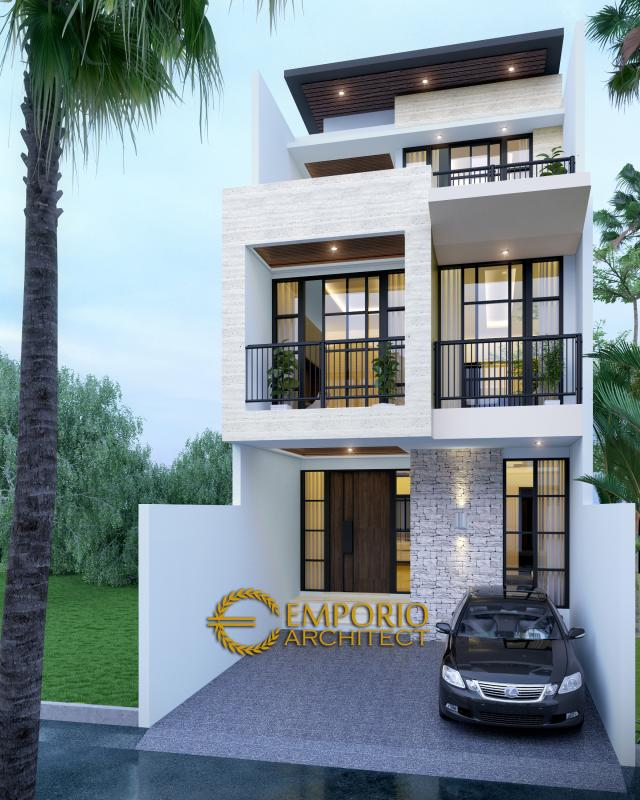 Desain Rumah Modern 3 Lantai Bapak Alvin