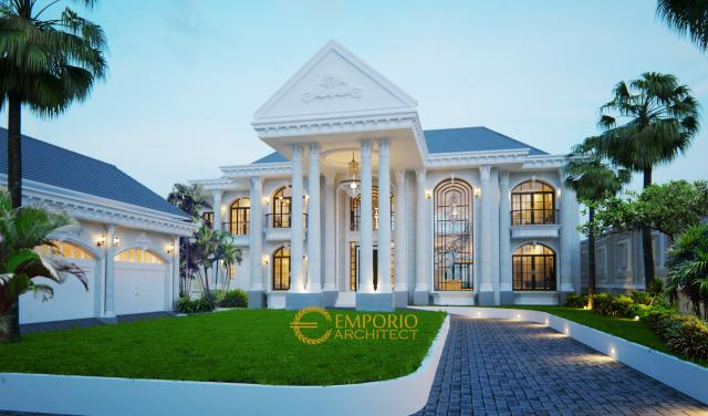 Desain Rumah Classic 2 Lantai Bapak Andre di  Medan, Sumatera Utara