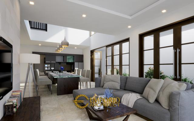 Desain Ruang Keluarga Rumah Hook Modern 2 Lantai Bapak Andreas di Jakarta
