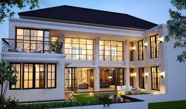 Desain Rumah Classic 2 Lantai Bapak Ardi di Yogyakarta