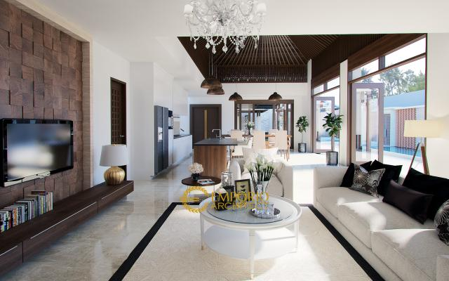 Desain Rumah Villa Bali 2 Lantai Bapak Bambang di  Jakarta