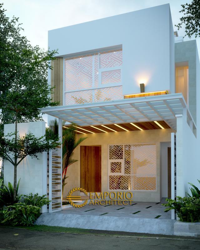 Desain Exterior 1 Rumah Modern 2 Lantai Bapak Irianto di Makassar, Sulawesi Selatan