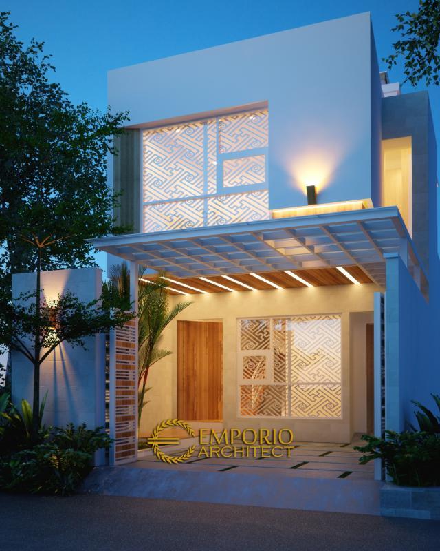 Desain Exterior 2 Rumah Modern 2 Lantai Bapak Irianto di Makassar, Sulawesi Selatan