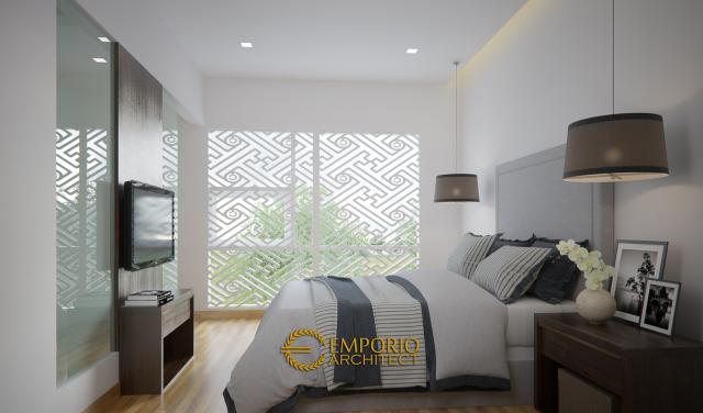 Desain Kamar Tidur Rumah Modern 2 Lantai Bapak Irianto di Makassar, Sulawesi Selatan