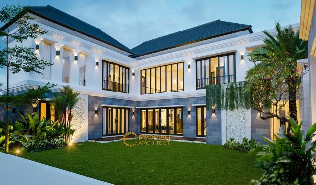 Desain Tampak Belakang Rumah Villa Bali 2 Lantai Bapak Jos di Pekanbaru