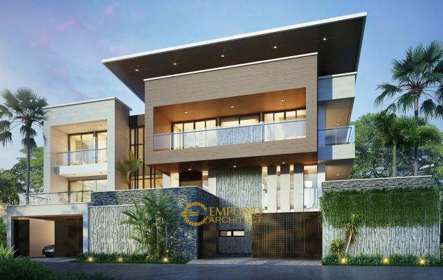 Mr. Mega Modern House 2 Floors Design - Bandung
