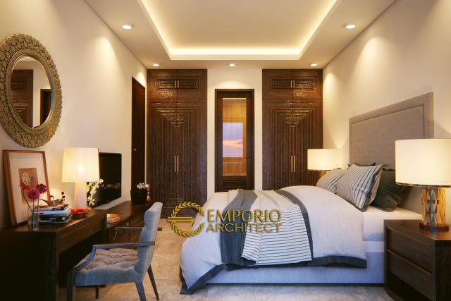 Desain Kamar Tidur Rumah Villa Bali 2 Lantai Bapak Michael di Yogyakarta