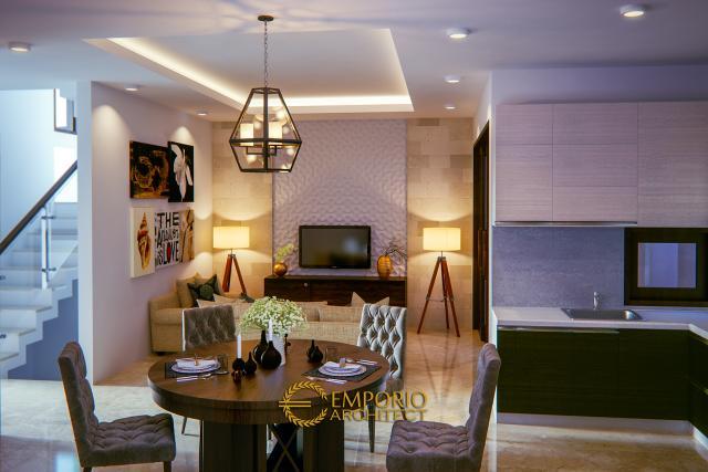 Desain Ruang Makan dan Ruang Keluarga Rumah Villa Bali 2 Lantai Bapak Michael di Yogyakarta