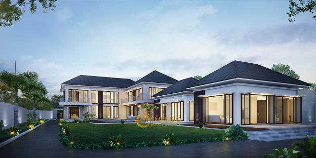 Desain Rumah Modern 2 Lantai Bapak Ngadiyono di  Serang, Banten
