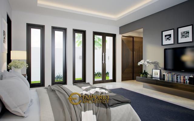 Desain Kamar Tidur Rumah Villa Bali 2 Lantai Bapak Partha di Denpasar, Bali