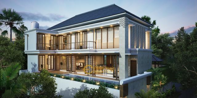 Desain Rumah Villa Bali 3 Lantai Bapak Teguh di Jakarta