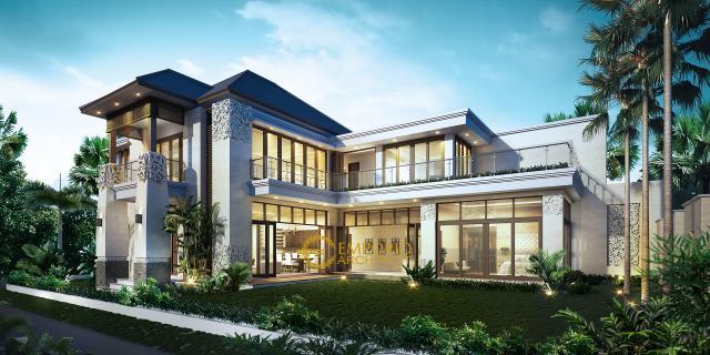 Desain Rumah Hook Villa Bali 2 Lantai Bapak Tony di  Makassar