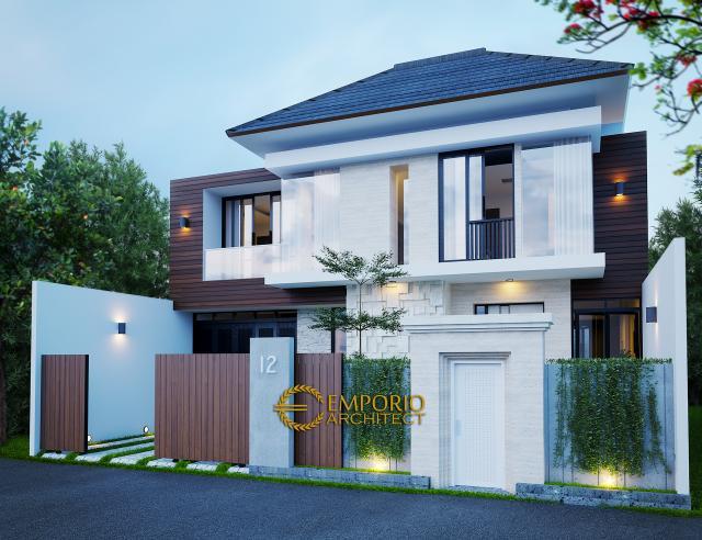 Desain Tampak Depan Dengan Pagar 2 Rumah Modern 2 Lantai Bapak Toto di Kebayoran Baru, Jakarta Selatan