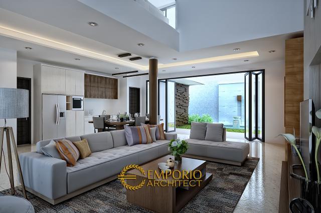 Desain Ruang Keluarga Rumah Modern 2 Lantai Bapak Toto di Kebayoran Baru, Jakarta Selatan