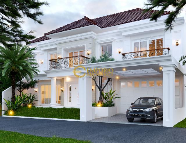Desain Rumah Classic 2 Lantai Bapak Yanson Hutabarat di  Cibubur, Jakarta