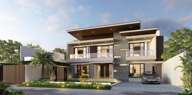 Desain Rumah Modern 2 Lantai Bapak Yusuf di  Lombok