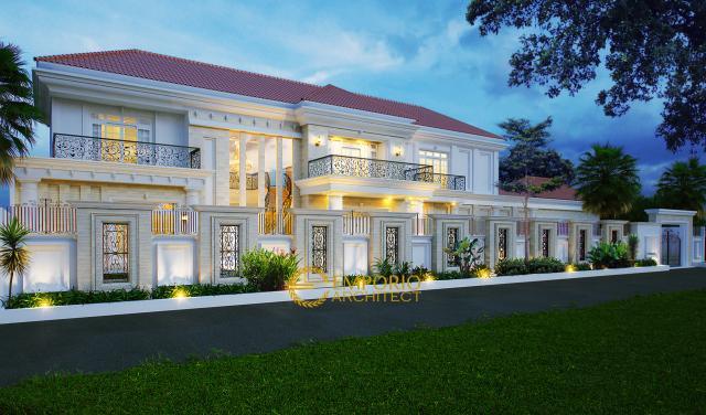 Desain Rumah Classic 2 Lantai Ibu Arum di  Solo