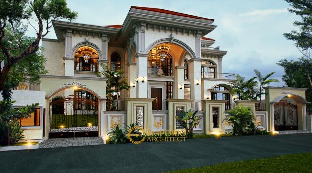 Mrs. Hapsari Mediteran House 2 Floors Design - Cibubur, Jakarta Timur
