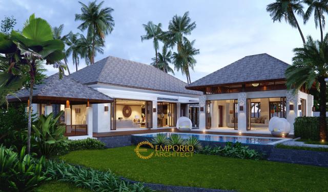 Desain Rumah Villa Bali 2 Lantai Ibu Heri di  Pamulang, Tangerang Selatan