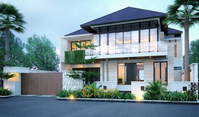 Desain Rumah Modern 2 Lantai Ibu Ista di  Jakarta