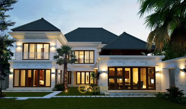 Desain Rumah Villa Bali 2 Lantai Ibu Mirah di  Denpasar, Bali