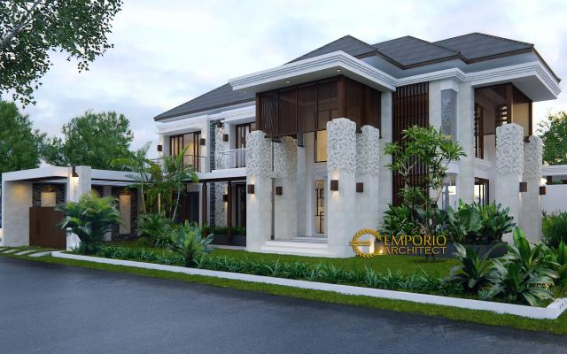 Desain Rumah Hook Villa Bali 2 Lantai Ibu Rina II di  Cibubur, Jakarta