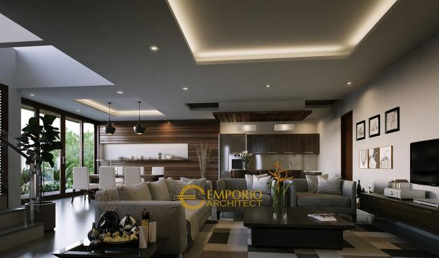 Desain Rumah Modern 2 Lantai Ibu Tasya di  Jakarta