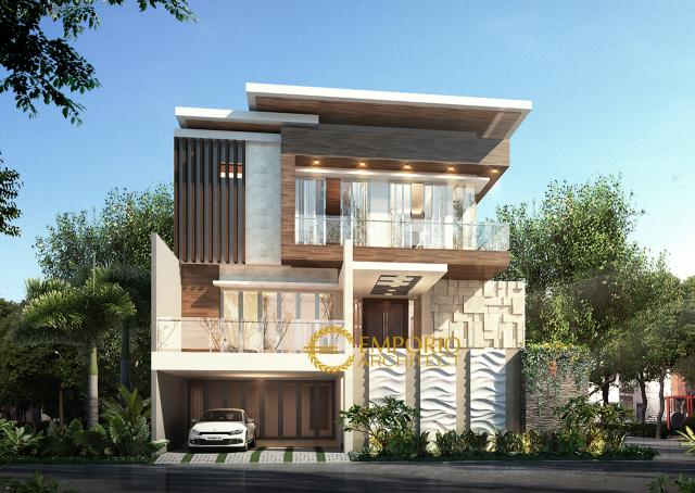 Desain Rumah Modern 3 Lantai Ibu Yoke di  Jakarta