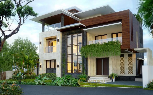 Desain Rumah Modern 3 Lantai Bapak dr. Kailash Prabudev di  Bangalore, India