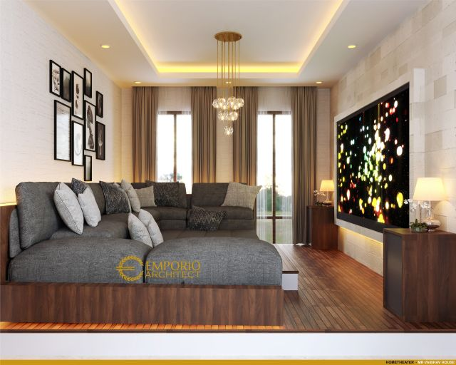 Desain Home Theater Rumah Mr. Vaibhav dan Mr. Nilesh di India