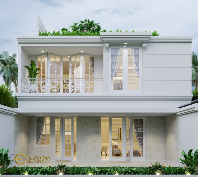 Desain Rumah Mediteran 3 Lantai Bapak Indra di  Jakarta Barat