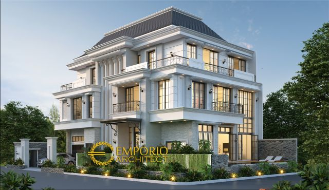 Mr. Liu Classic House 3 Floors Design - Jakarta Barat