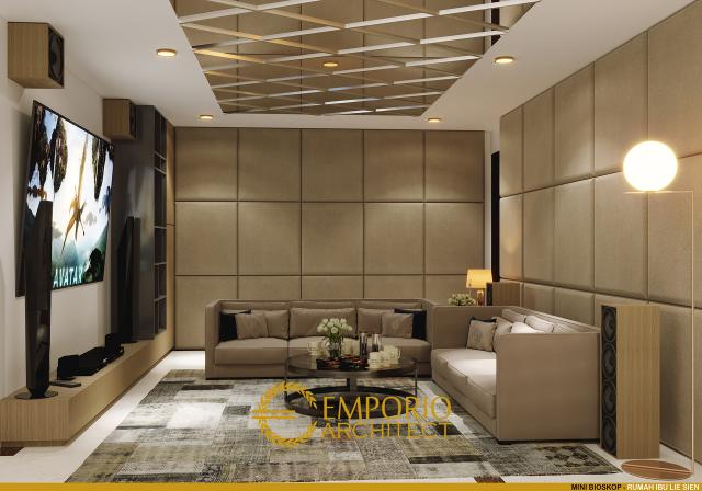 Desain Mini Bioskop Rumah Modern 3 Lantai Ibu Lie Sien di Jakarta Barat