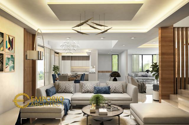 Desain Rumah Modern 3 Lantai Bapak Arnold II di  Jakarta
