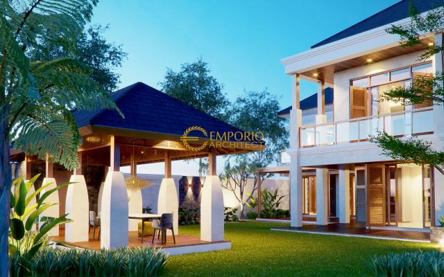 Desain Rumah Villa Bali 2 Lantai Bapak Buddy di  Jakarta