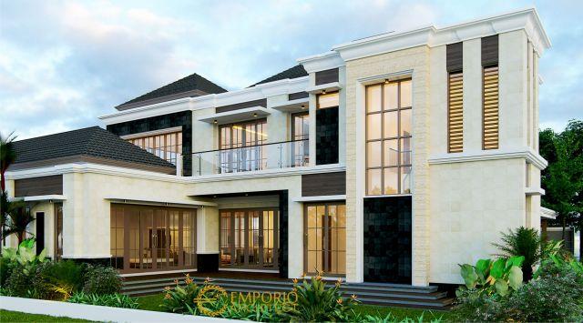 Desain Rumah Villa Bali 2 Lantai Bapak Chandra di  Jakarta