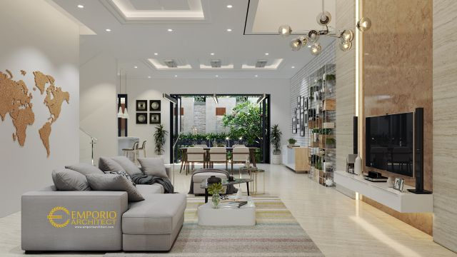Desain Rumah Modern 3 Lantai Bapak Eddy di  Jakarta Utara
