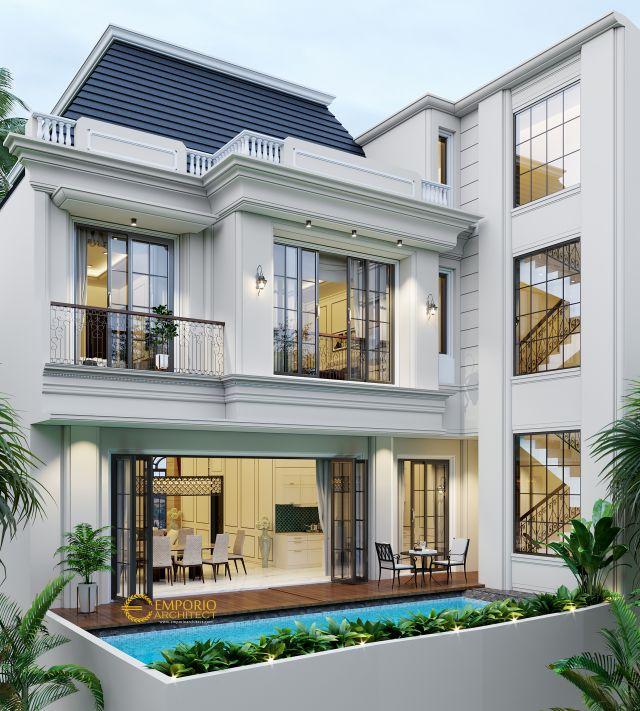 Desain Rumah Classic 3 Lantai Bapak Gusti II di  Jakarta