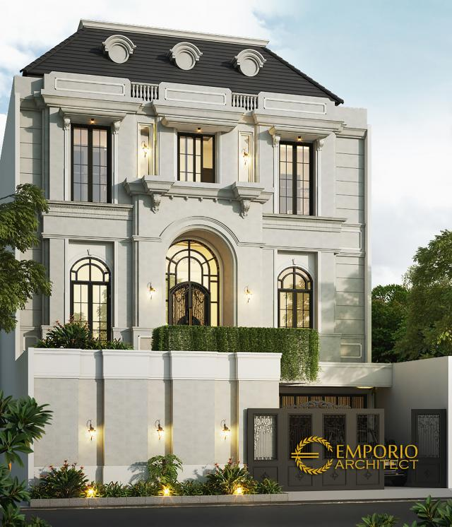 Desain Rumah Mediteran 4 Lantai Bapak Salim di  Jakarta