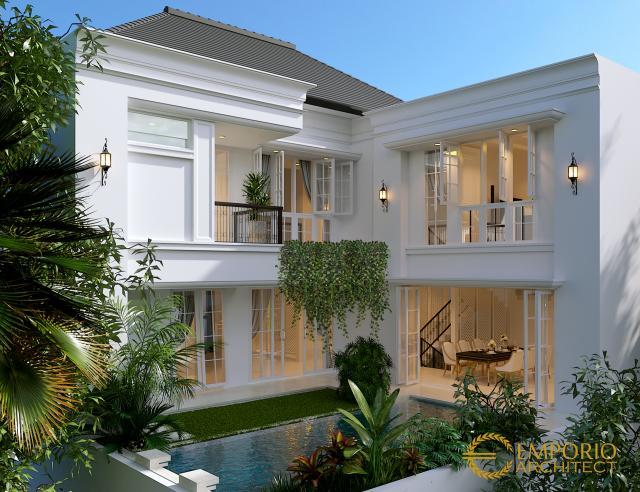 Desain Rumah Mediteran 2 Lantai Ibu A di  Jakarta
