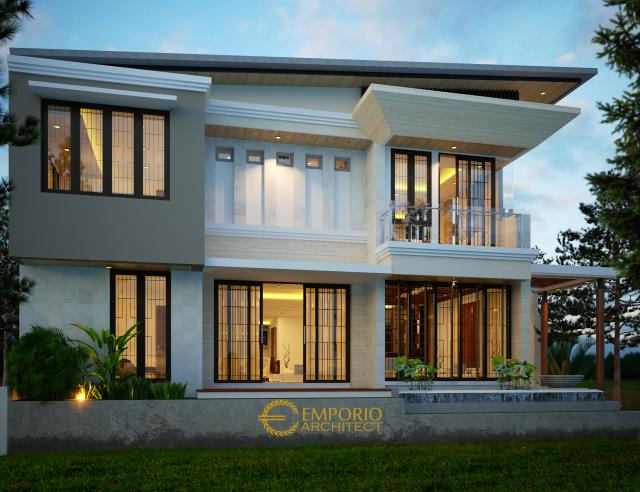 Desain Rumah Modern 2 Lantai Ibu Dina di  BSD, Tangerang