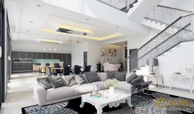 Mrs. Ines Classic House 3 Floors Design - Jakarta