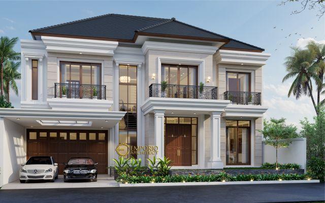 Desain Rumah Classic 2 Lantai Ibu Maya di  Jakarta