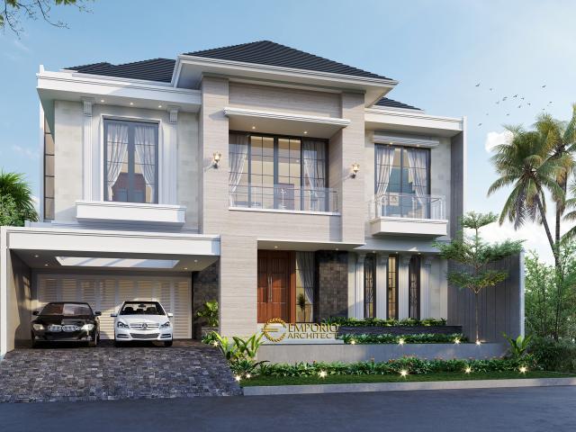 Desain Tampak Depan Rumah Modern 3 Lantai Bapak John di Jakarta
