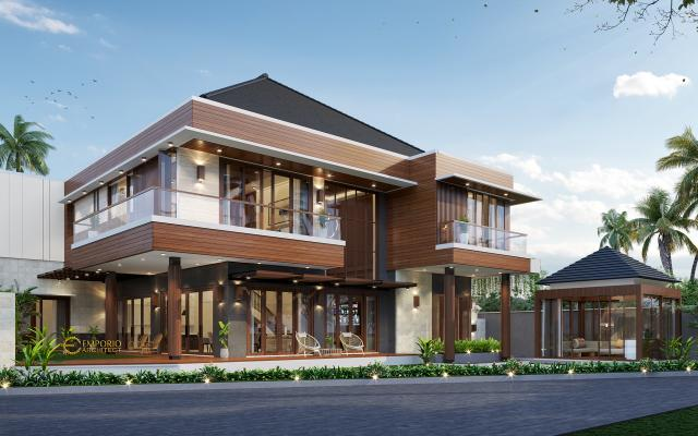 Desain Tampak Samping Rumah Modern 2 Lantai Ibu Ella di Jakarta Selatan