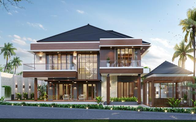 Desain Tampak Samping 2 Rumah Modern 2 Lantai Ibu Ella di Jakarta Selatan