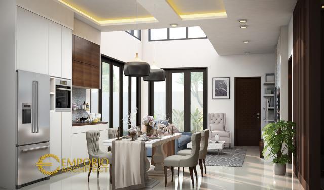 Desain Rumah Modern 2 Lantai Bapak Indra di  Jakarta Selatan